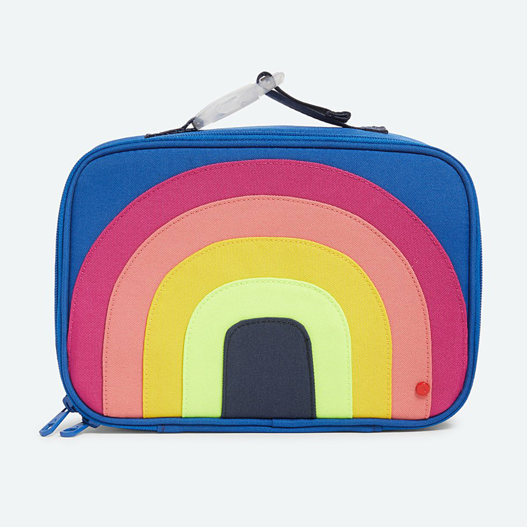 state bags rodgers lunch box in color block rainbow