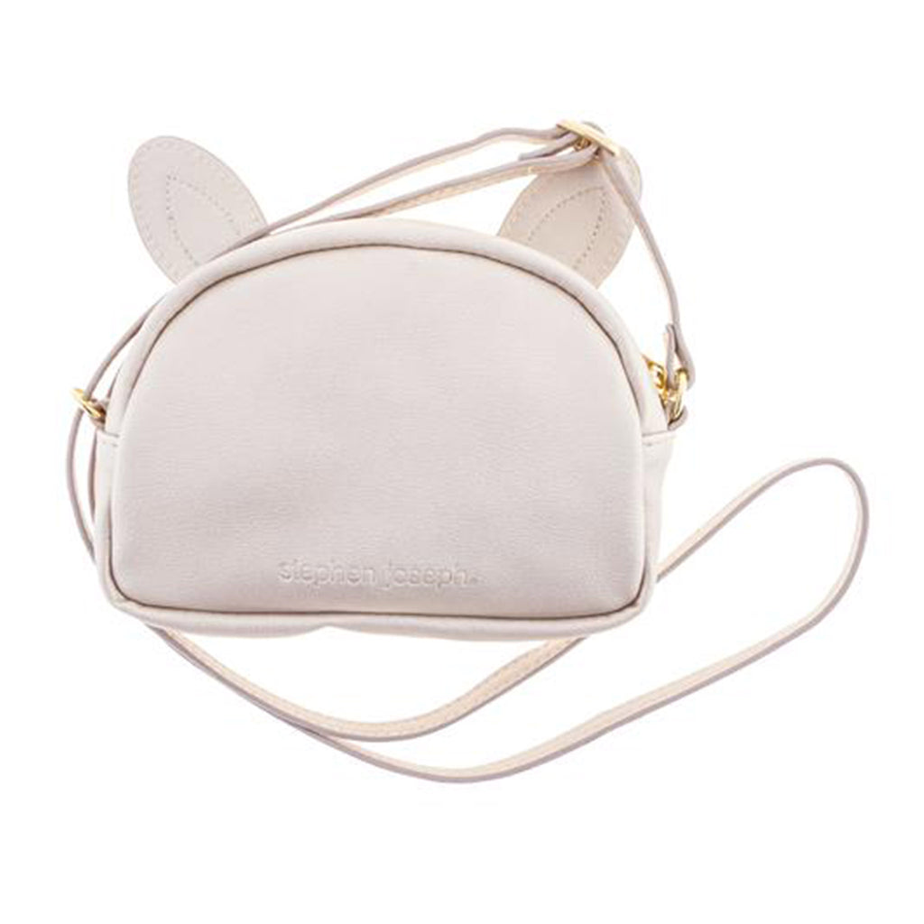 stephen joseph kids ivory bunny fashion purse bag accessory back view