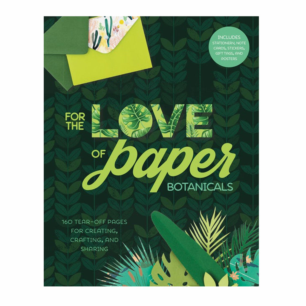 sterling publishing for the love of paper botanicals craft activity book cover