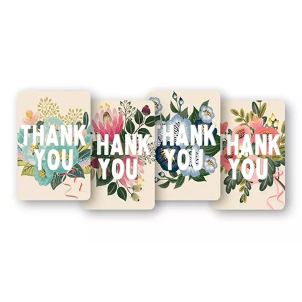 studio oh! flower field floral blank thank you note card set with stickers and envelopes all 4 designs