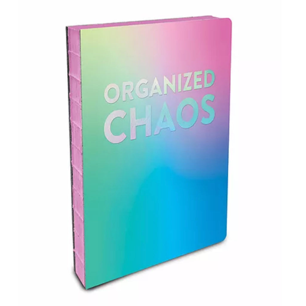 studio oh! organized chaos coptic bound journal notebook rainbow ombre cover and pink spine