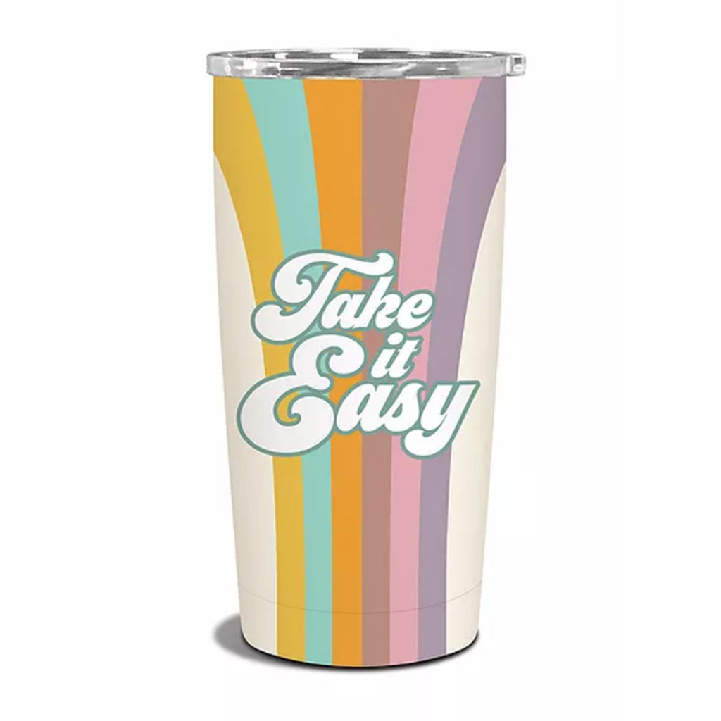 studio oh take it easy insulated stainless steel reusable tumbler with lid