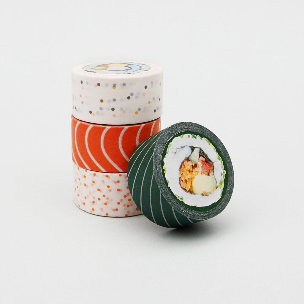 sushi decorative paper washi sticky tape stack