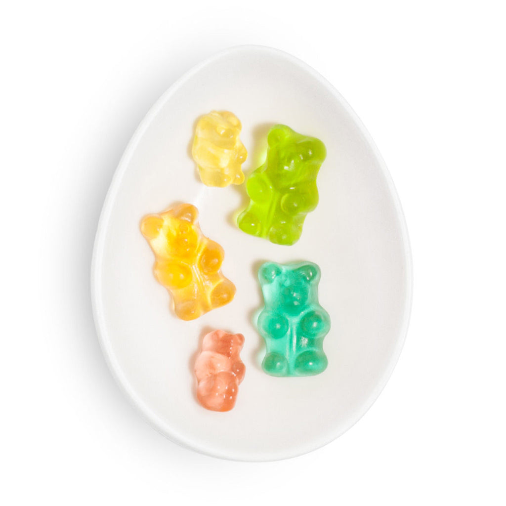 sugarfina 3 piece gummy candy rainbow bento box set rainbow bears gummies detail
