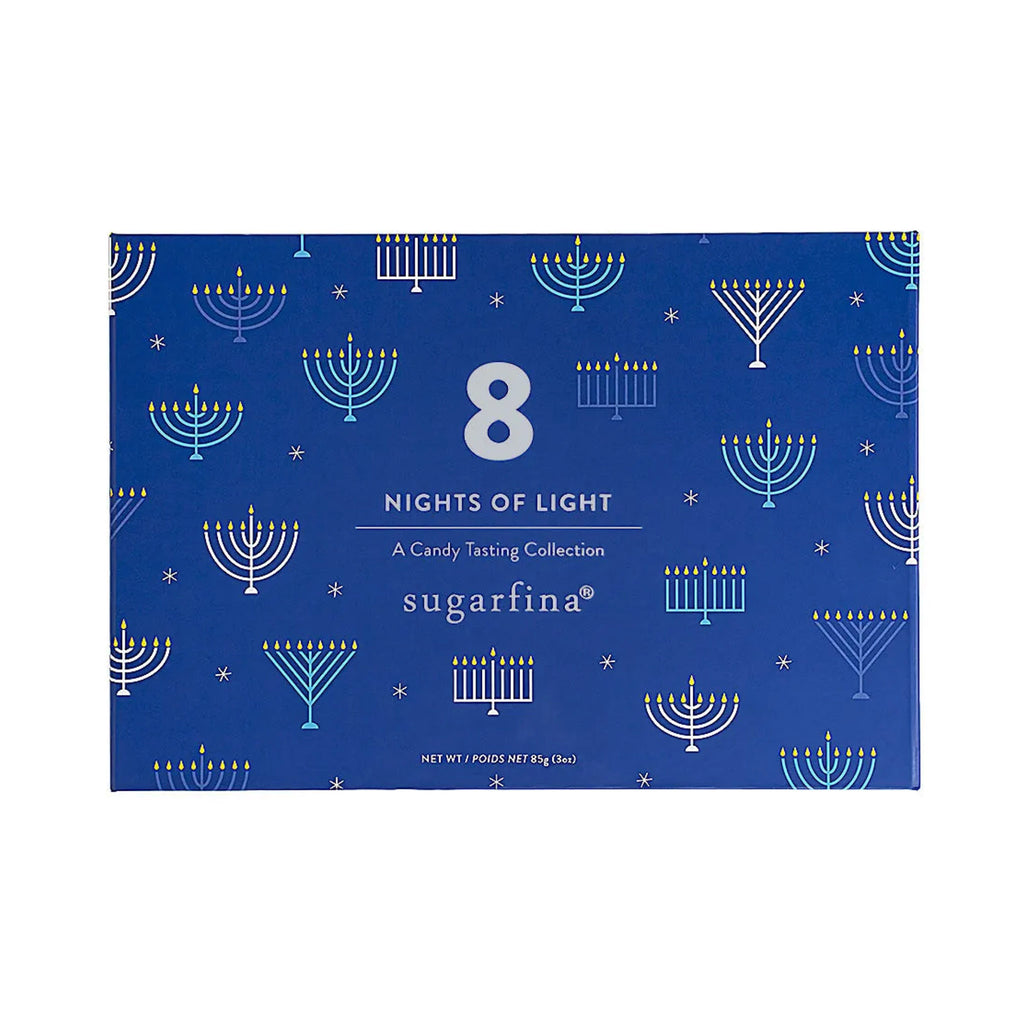 sugarfina eight nights of light hanukkah kosher candy tasting collection box top