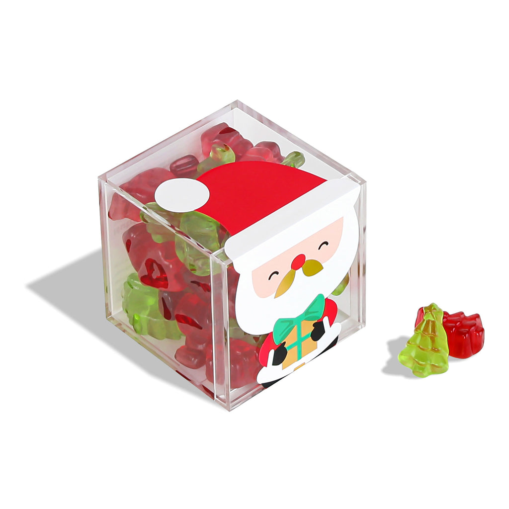 sugarfina santas trees raspberry green apple flavored red green christmas trees gummies holiday candy box angle 2020