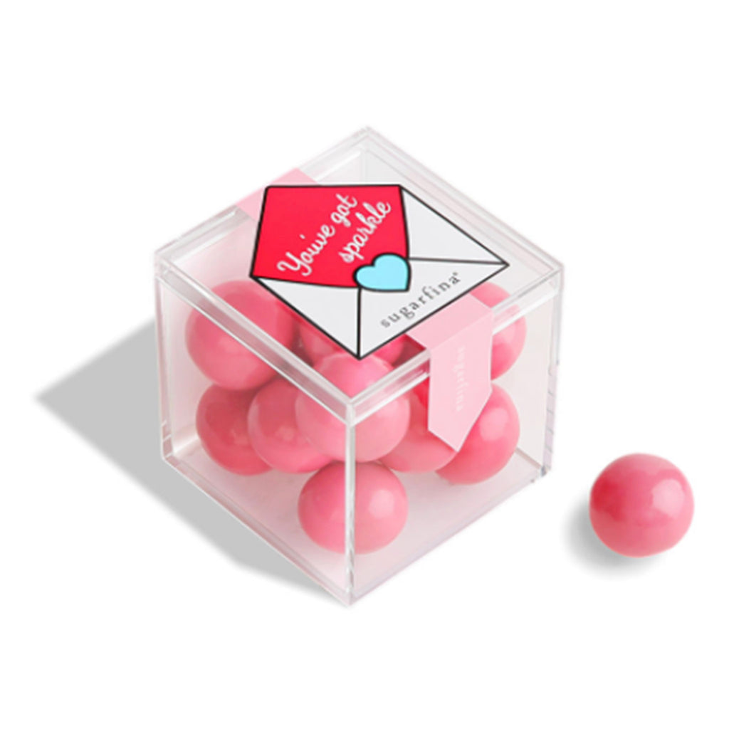 sugarfina you've got sparkle pink sparkle pops valentine's day candy box front angle