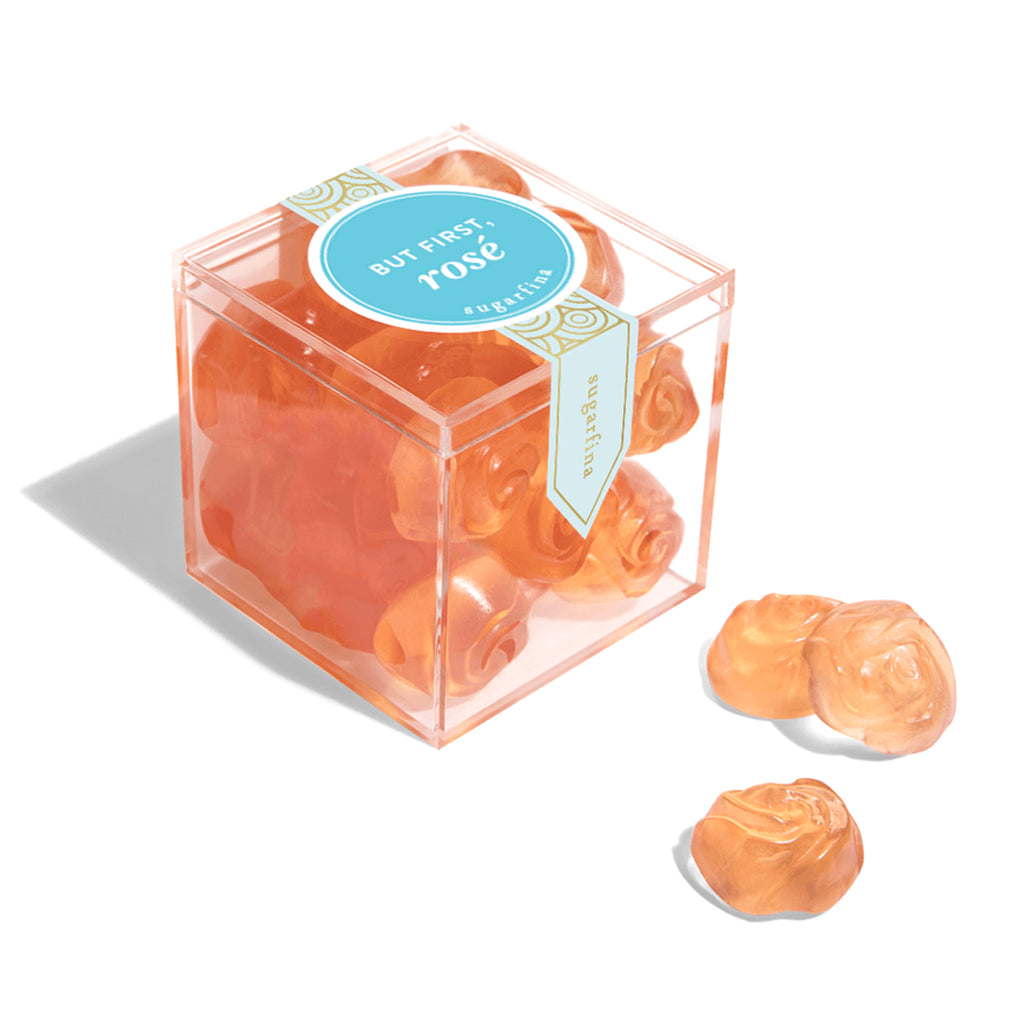 sugarfina but first rosé rose gummy candy small box