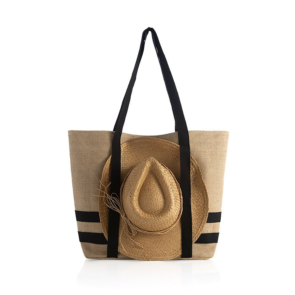 shiraleah sunny natural beach tote with matching straw hat
