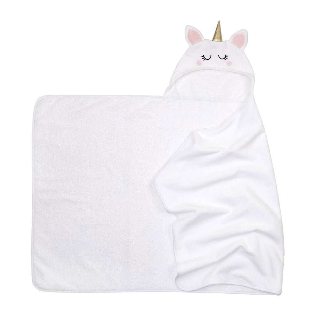 sunnylife kids unicorn hooded bath towel unfolded