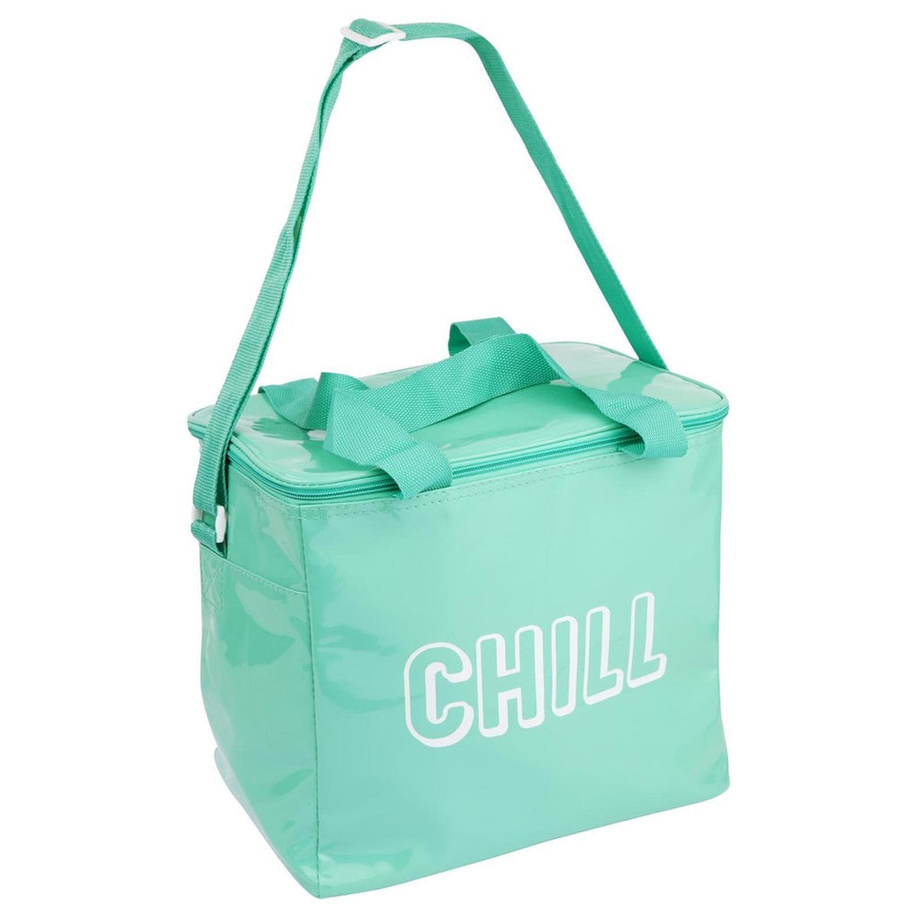 chill turquoise large insulated cooler bag