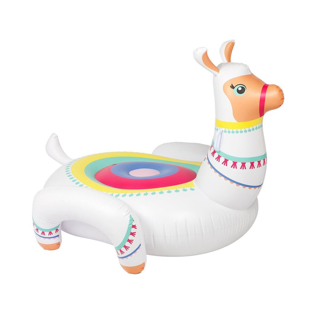 luxe llama ride-on pool float
