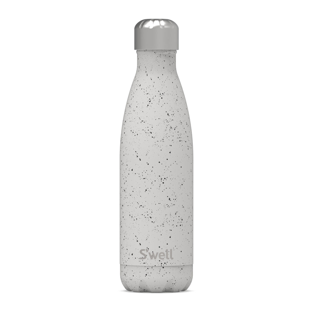 s'well speckled moon 17 ounce insulated reusable stainless steel bottle with lid on