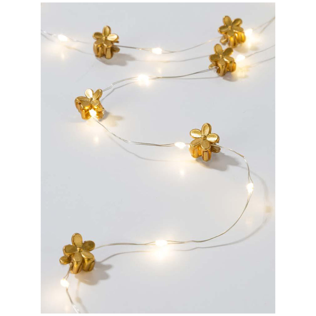 talking tables gold hair string lights