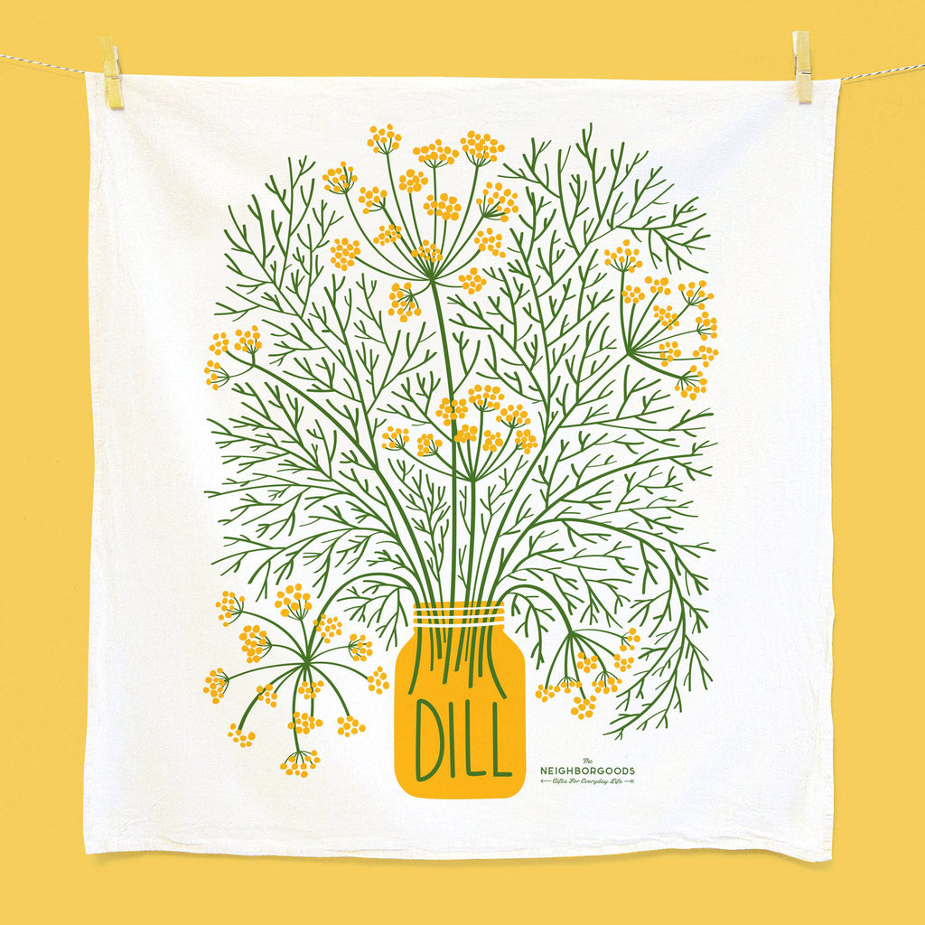 the neighborgoods fresh herbs set of three dish towels dill kitchen towel