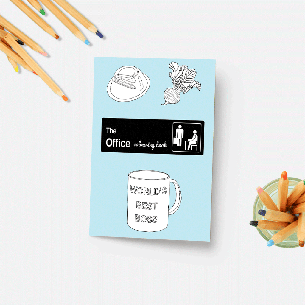 party mountain paper the office coloring book cover