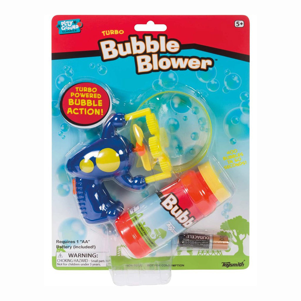 toysmith turbo bubble blower outdoor kids toy in packaging