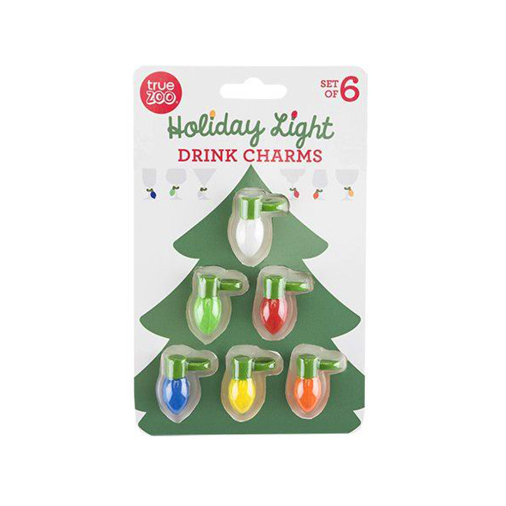 holiday light drink charms in packaging