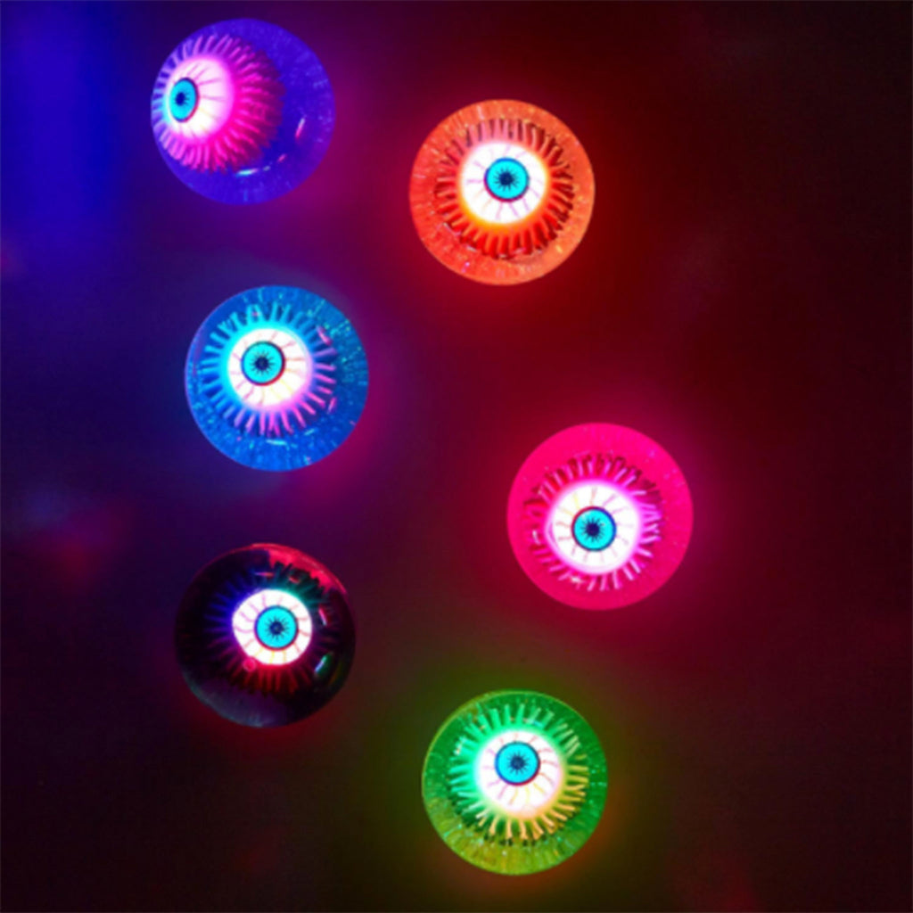 two's company eye see you light up eyeball bouncing rubber ball in assorted colors glowing in the dark