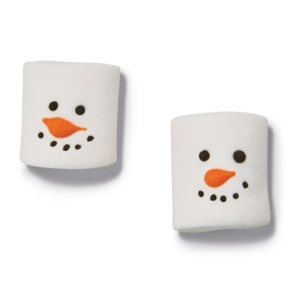 two's company snowman winter themed marshmallows detail unwrapped