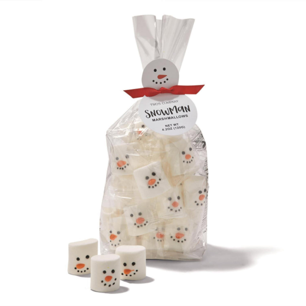 two's company snowman winter themed marshmallows in packaging