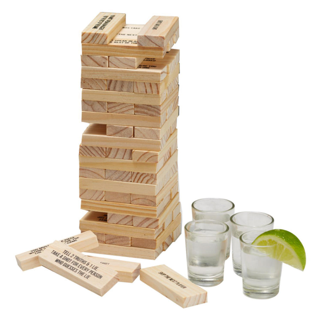 two's company stumbling blocks drinking game in use