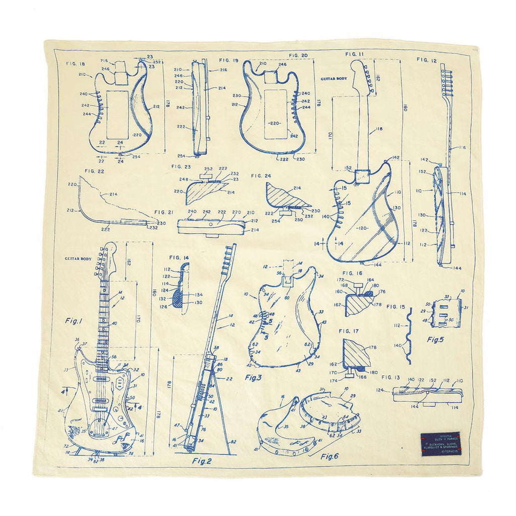 guitar blueprint bandana