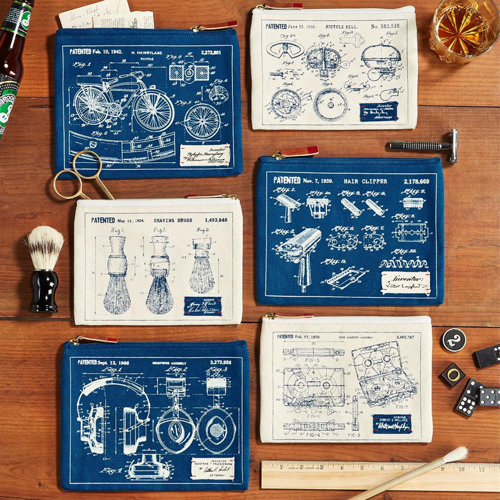 set of 2 blueprint pouches
