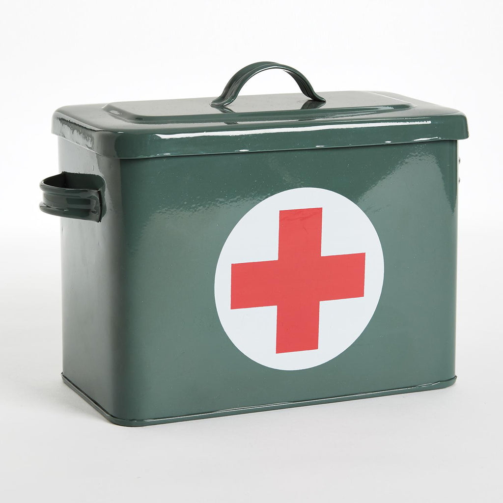 first aid steel storage box
