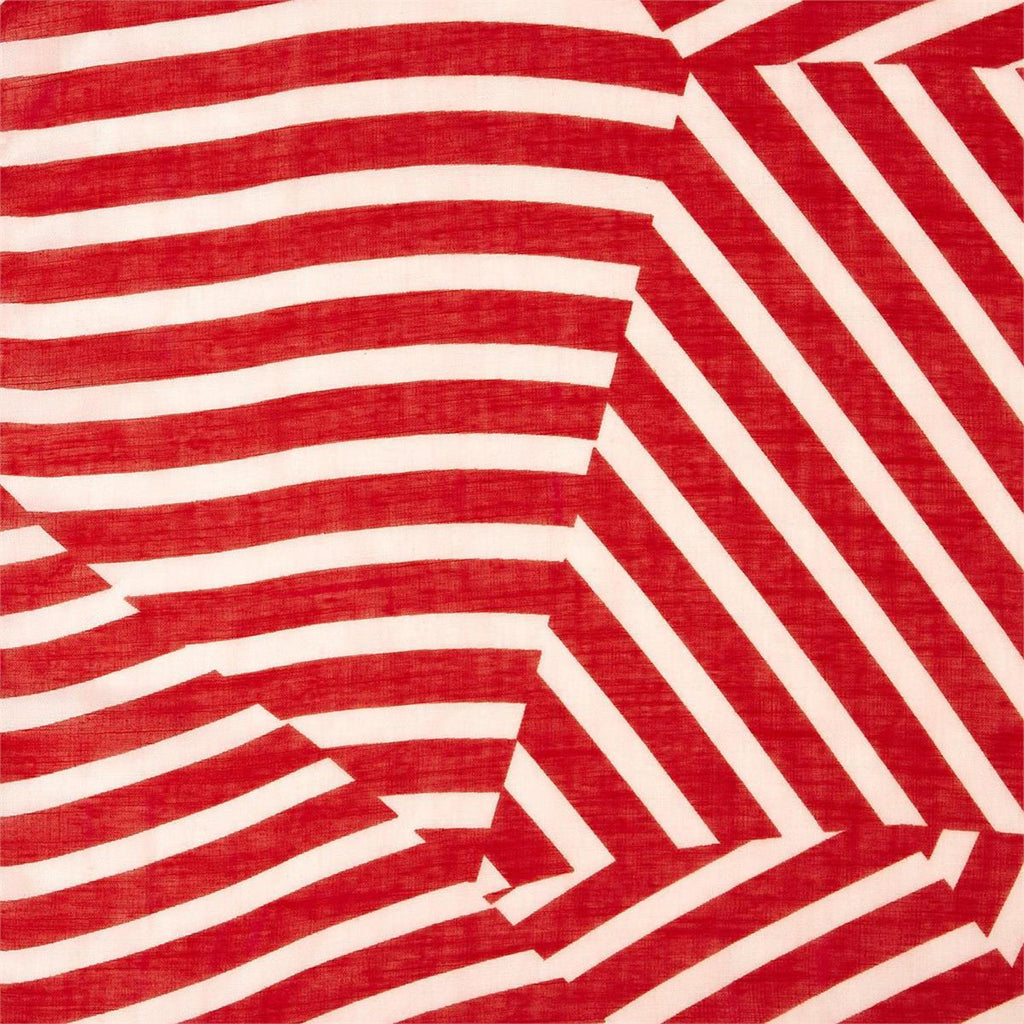 red and white striped lightweight scarf