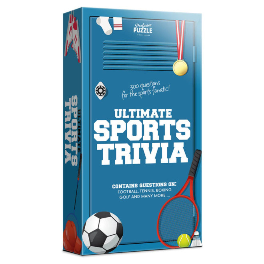 ultimate sports trivia in box illustrated like a blue locker
