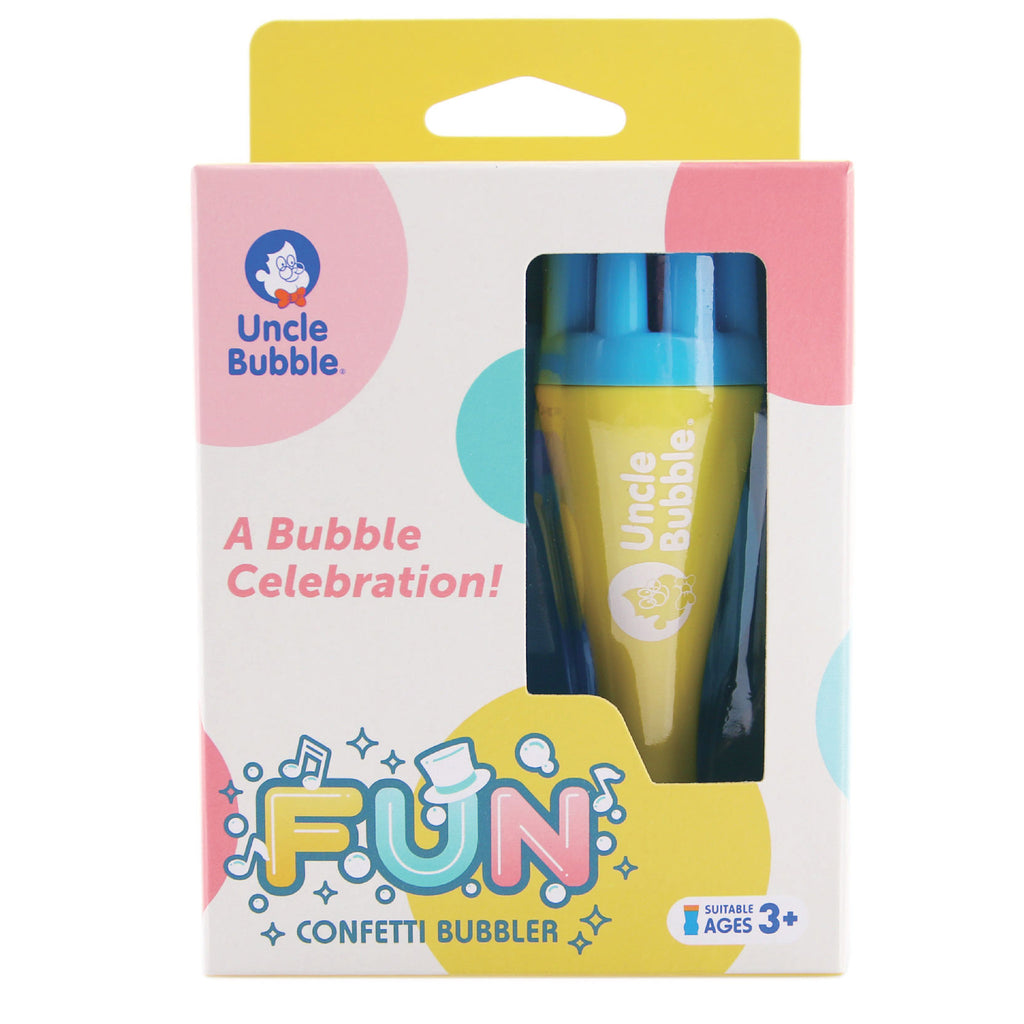 uncle bubble confetti bubbler