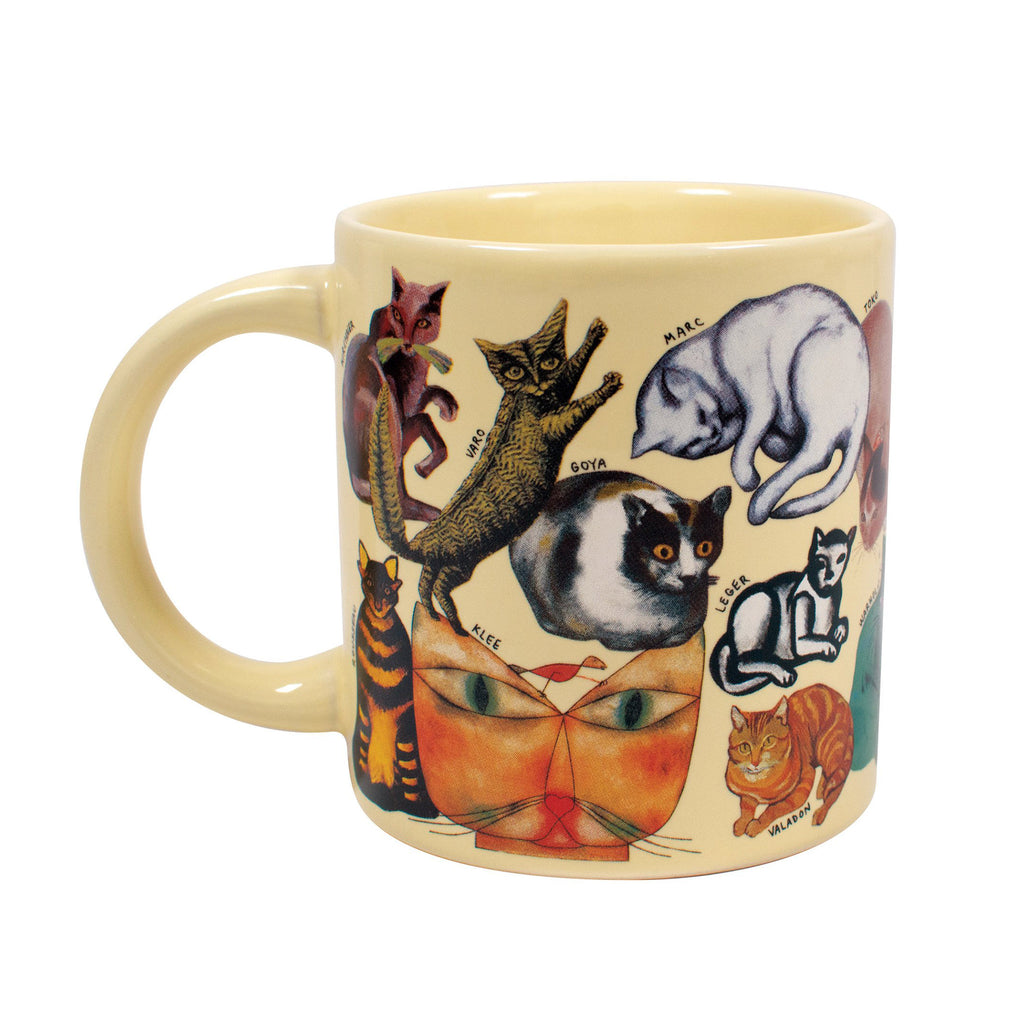 the unemployed philosophers guild the artistic cat ceramic mug front