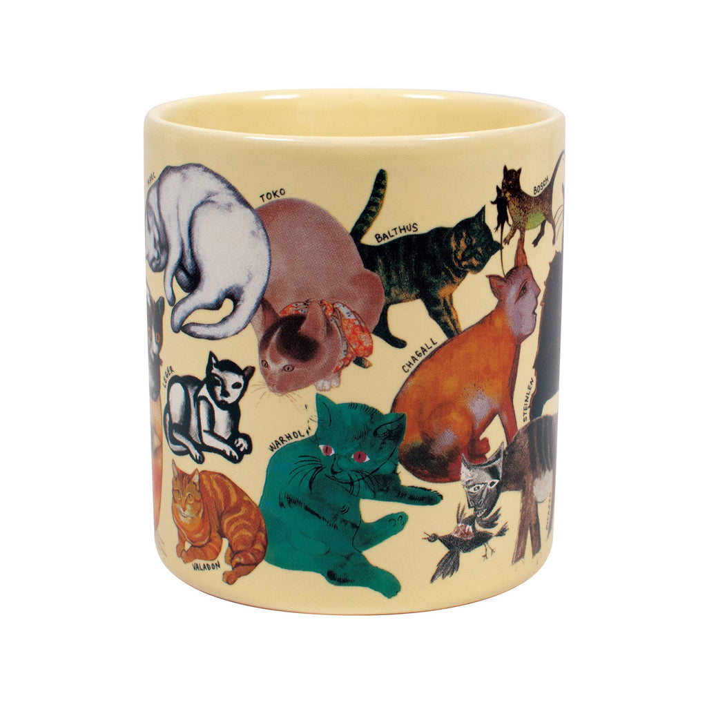 the unemployed philosophers guild the artistic cat ceramic mug middle