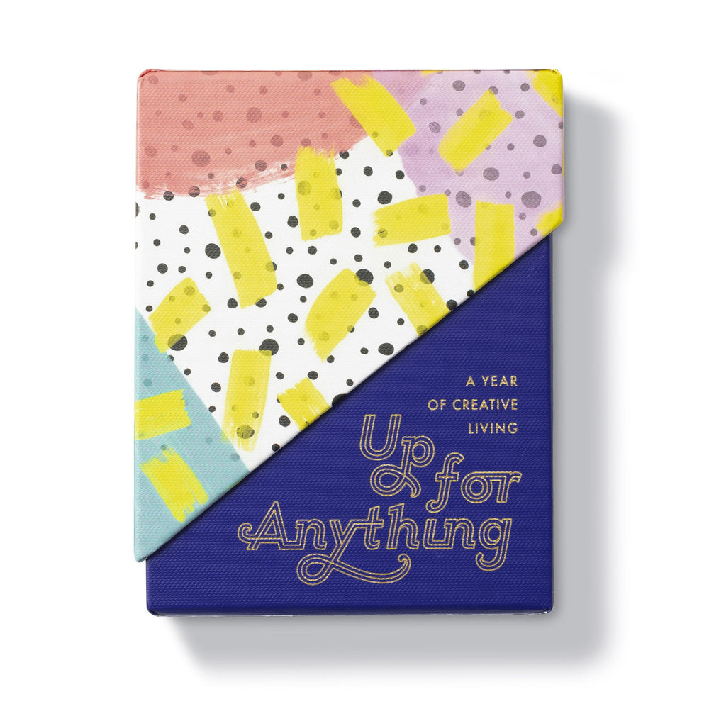 compendium up for anything a year of creative living boxed card set in multicolored packaging