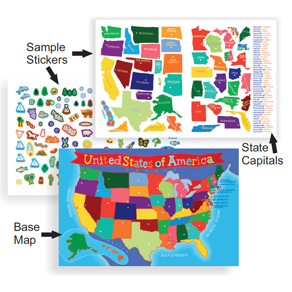 USA Kids Sticker Book