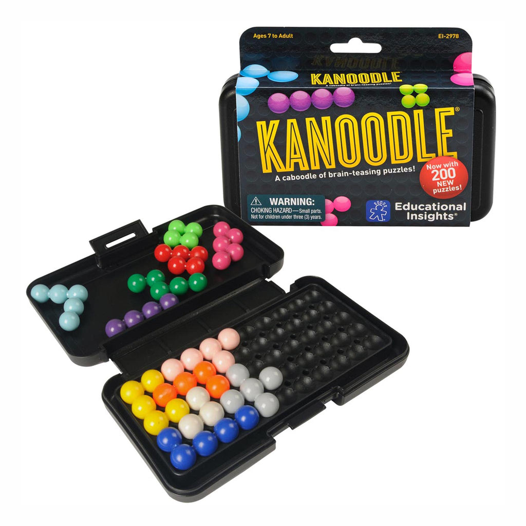 usborne educational insights kanoodle brain teasing puzzles for kids and adults packaging with game board open