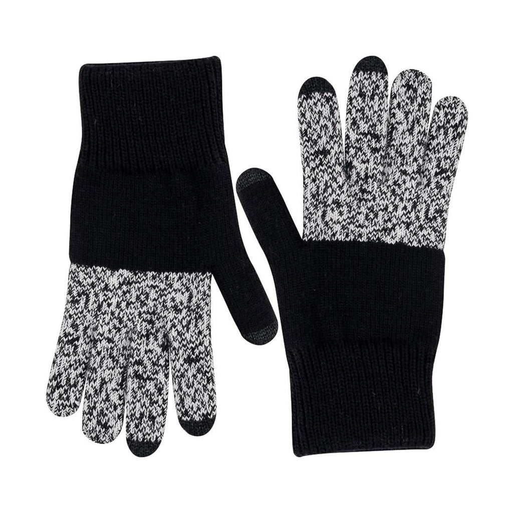 verloop unisex extra large classic colorblock touchscreen gloves in black marl