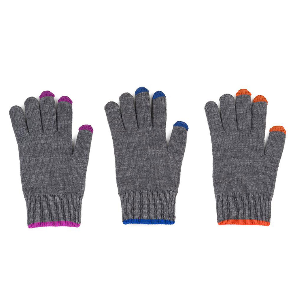 Pair and Spare Touchscreen Gloves in Grey Solids