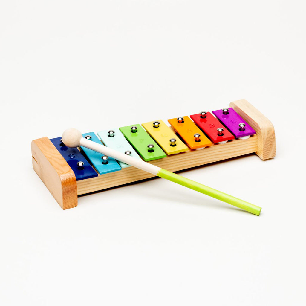 vilac woodland wood and metal percussion musical instrument set xylophone