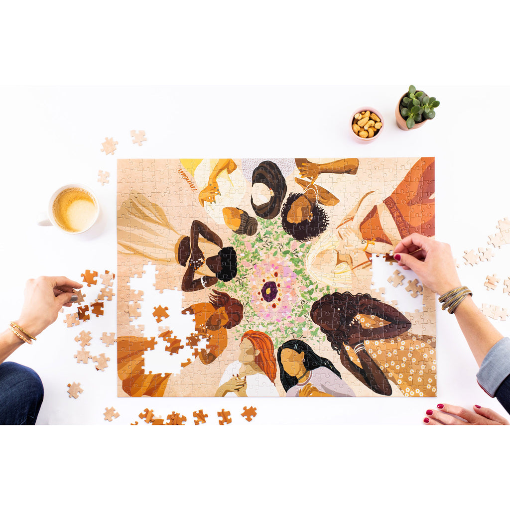 wander puzzle company 500 piece we are one jigsaw puzzle in progress