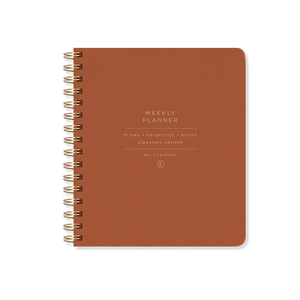 fringe studio weekly undated planner in cognac