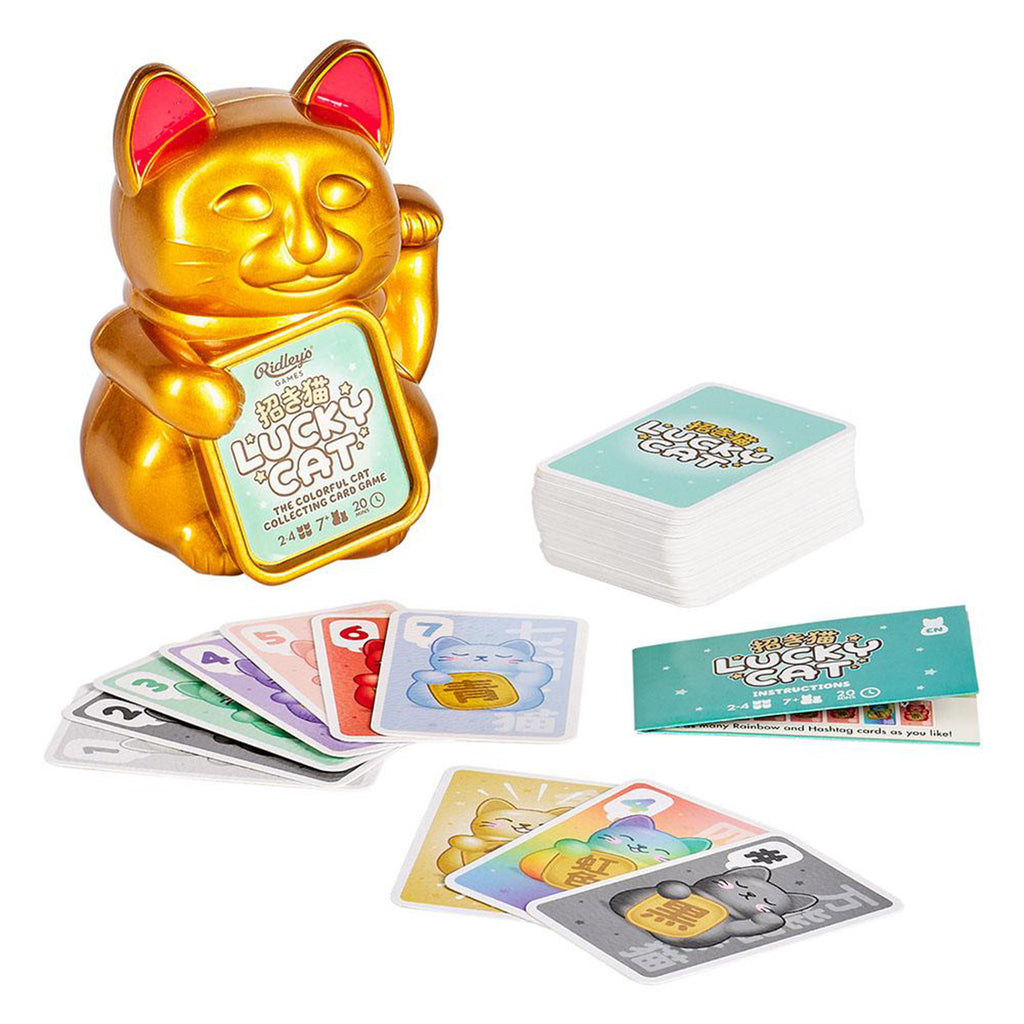 wild and wolf lucky cat the colorful cat collecting card game in packaging with contents