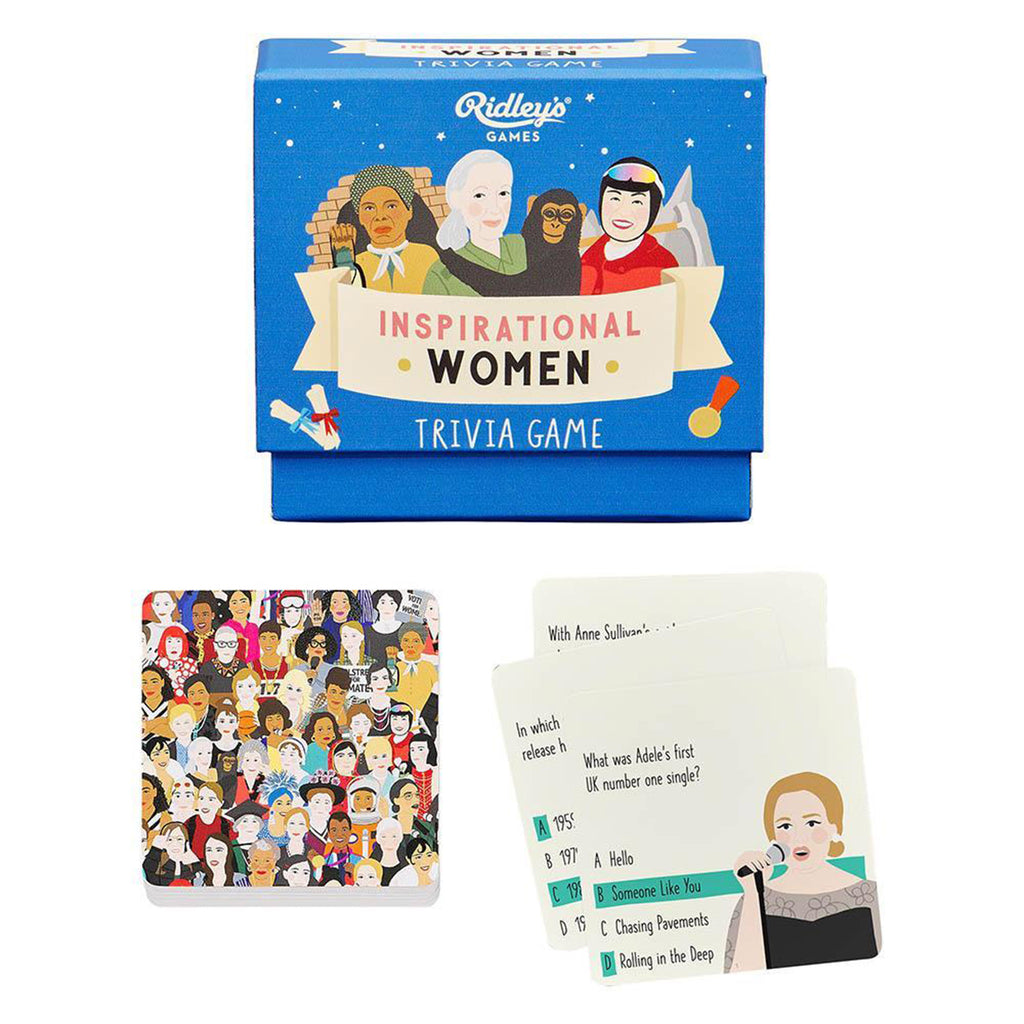 wild and wolf ridleys games inspirational women trivia game fantastic females packaging sample cards