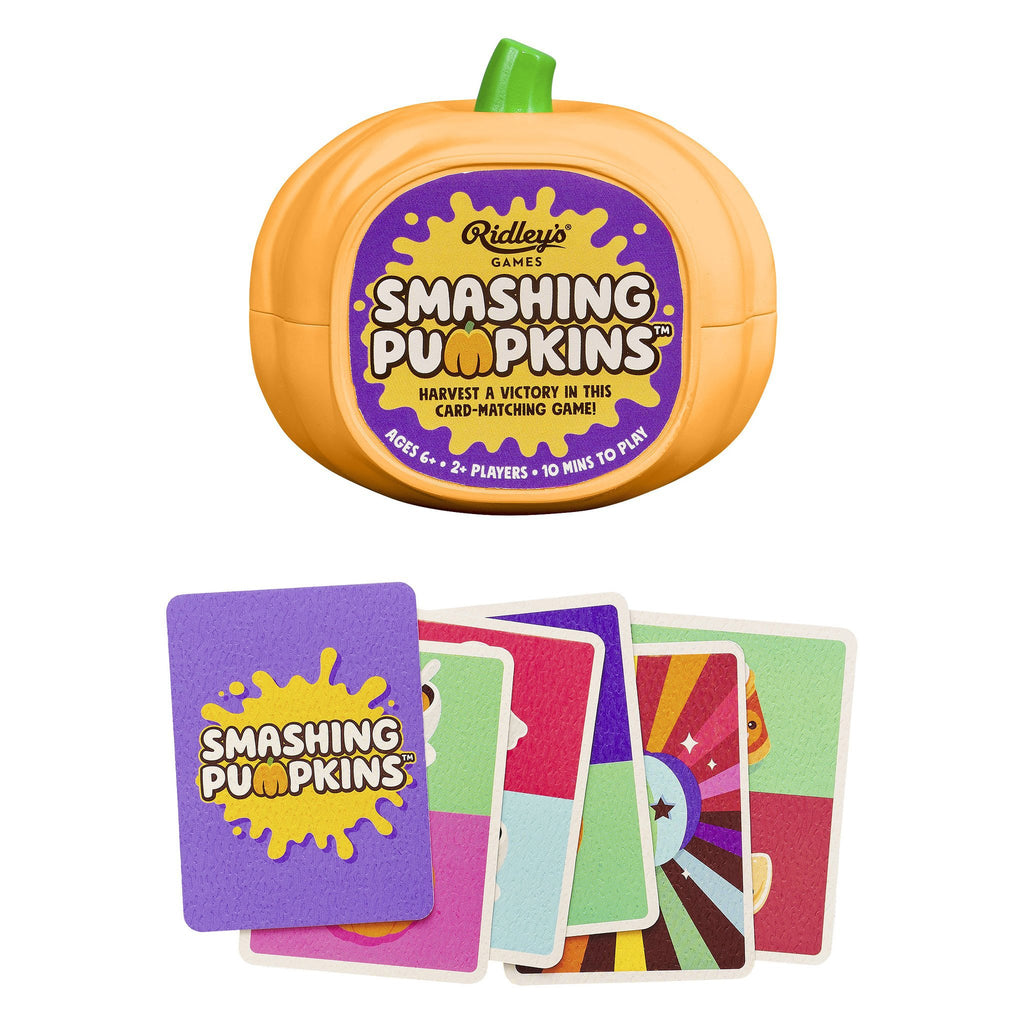 wild wolf smashing pumpkins card matching game packaging and cards straight on
