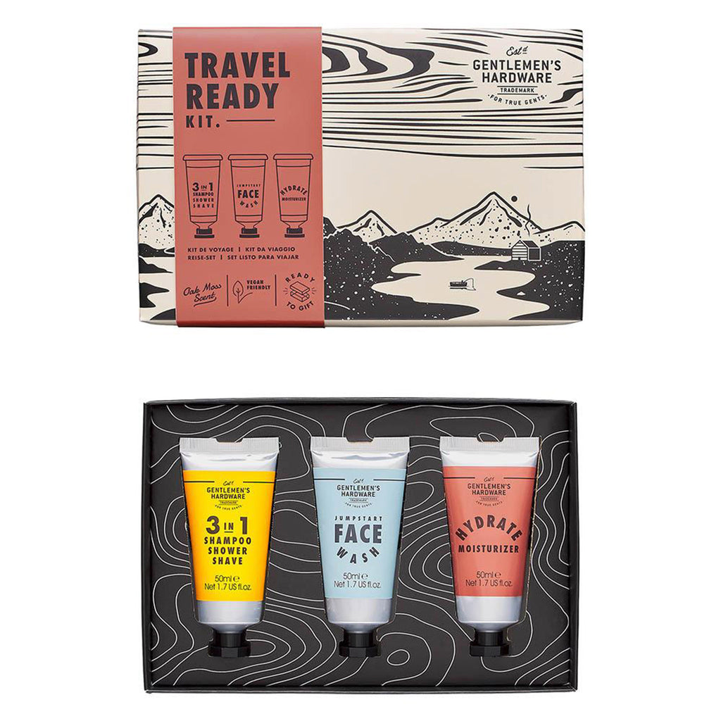 gentlemen's hardware travel ready grooming kit open box