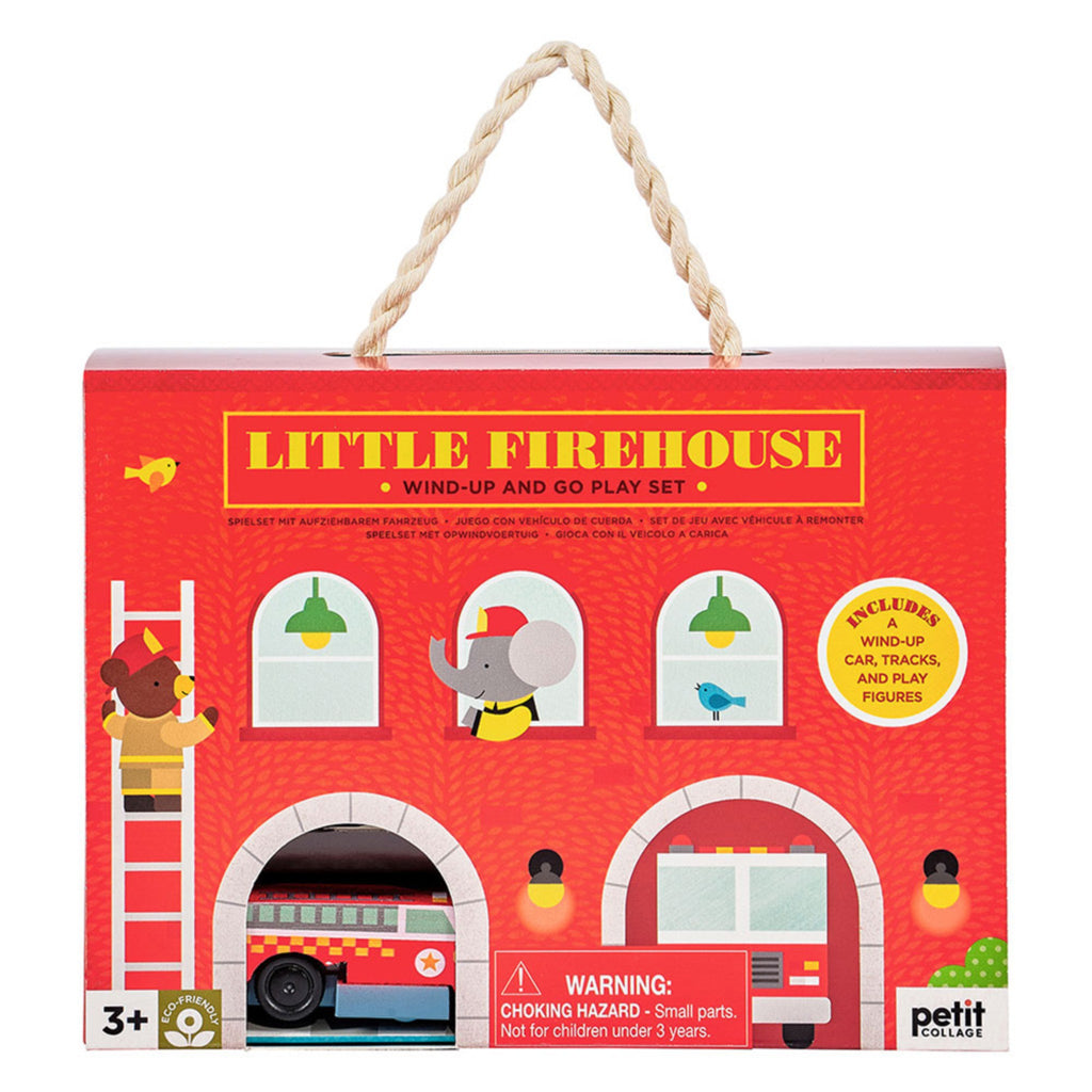 wind up and go play set little firehouse box