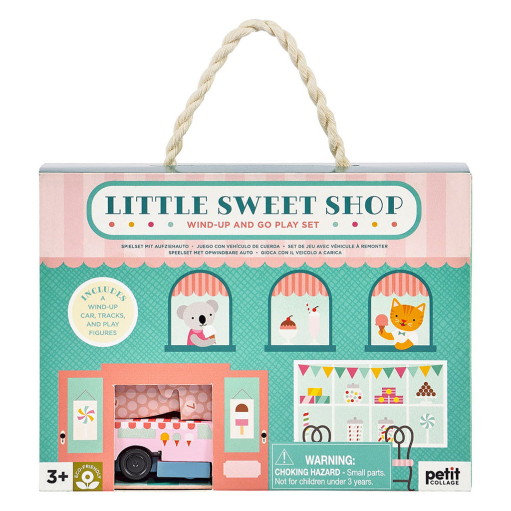 little sweet shop wind up and go play set box