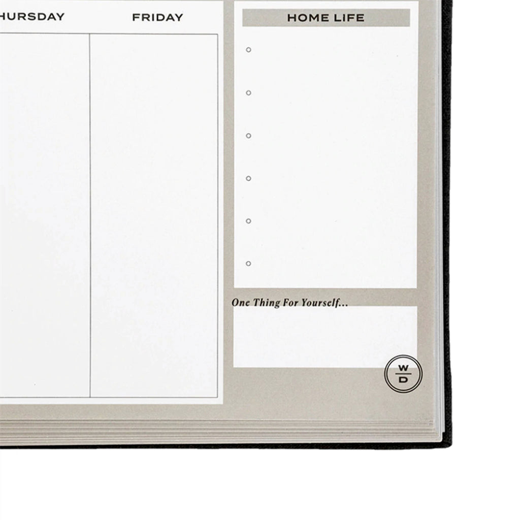 stay on track notepad weekly planner with perforated pages detail 2