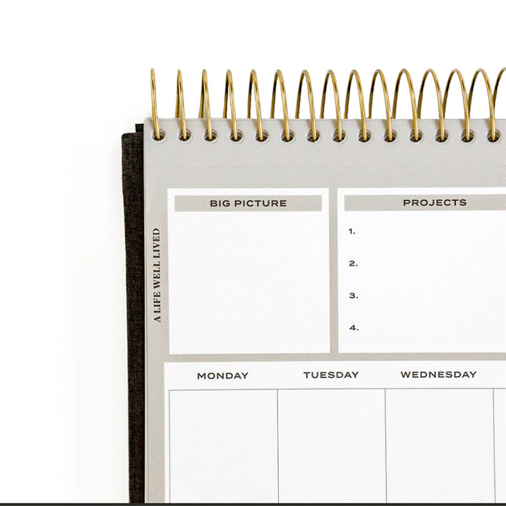 stay on track notepad weekly planner with perforated pages detail